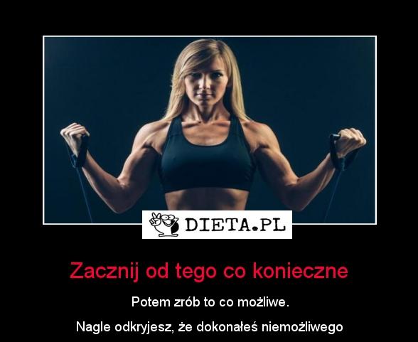 Zacznij od tego co konieczne - Dieta.pl/motywatory